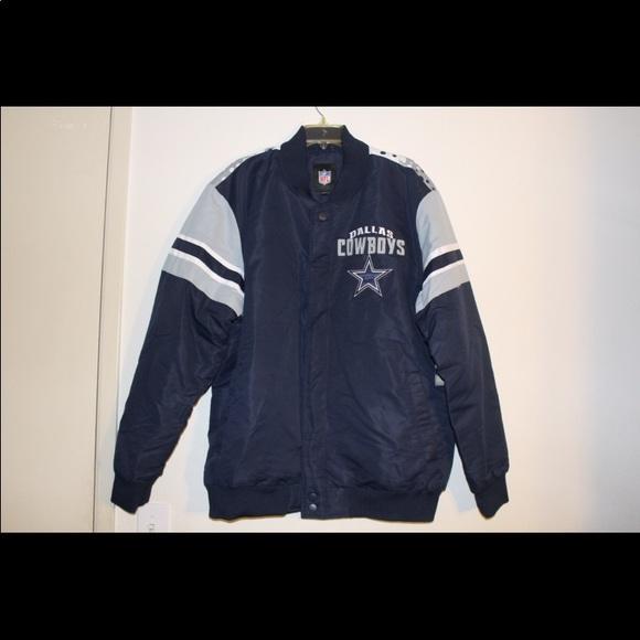NFL Dallas Cowboys Satin Bomber Jacket XXL 2XL c5dd81a64